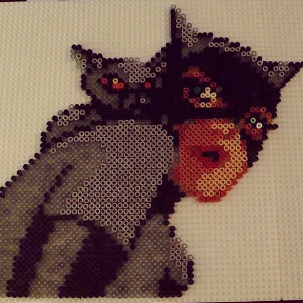 Catwoman hama perler beads by sweetcaeks
