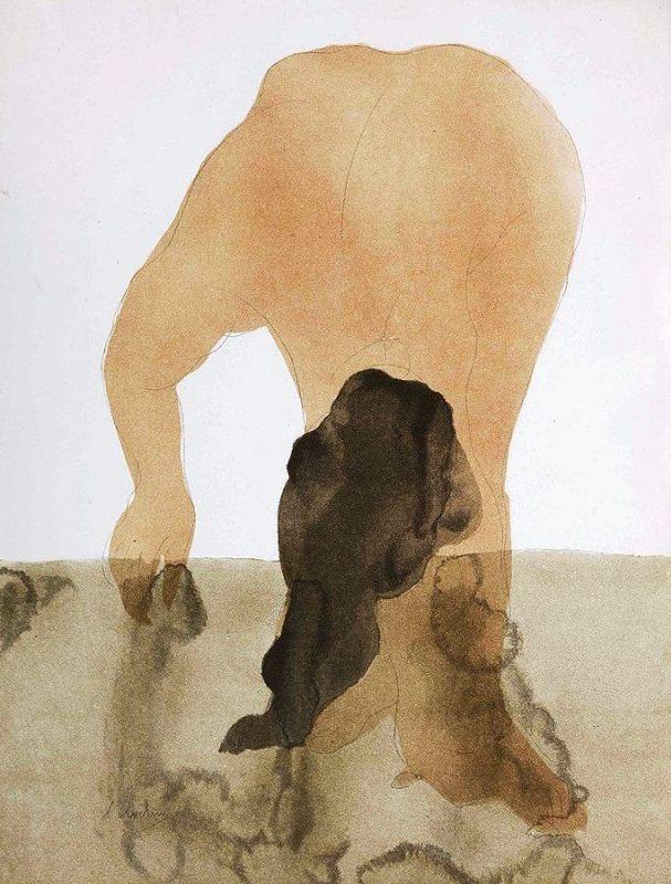 """Огюст Роден. Иллюстрация к книге Октава Мирбо """"Сад пыток"""". Издательство Амбруаза Воллара"""