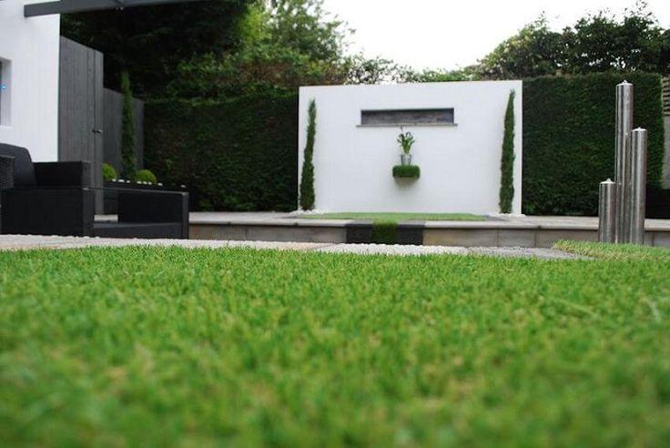 vallas de jardín con arbustos