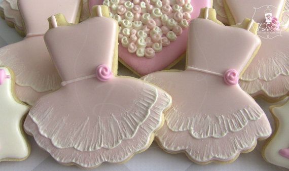 Ballet Ballerina Tutu First Birthday Cookies by DolceCustomCookies