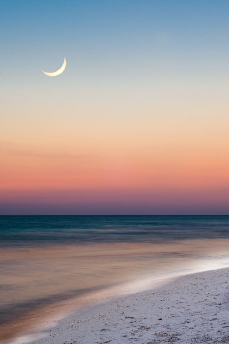 Summer beach scene just after sunset by Robert Hainer