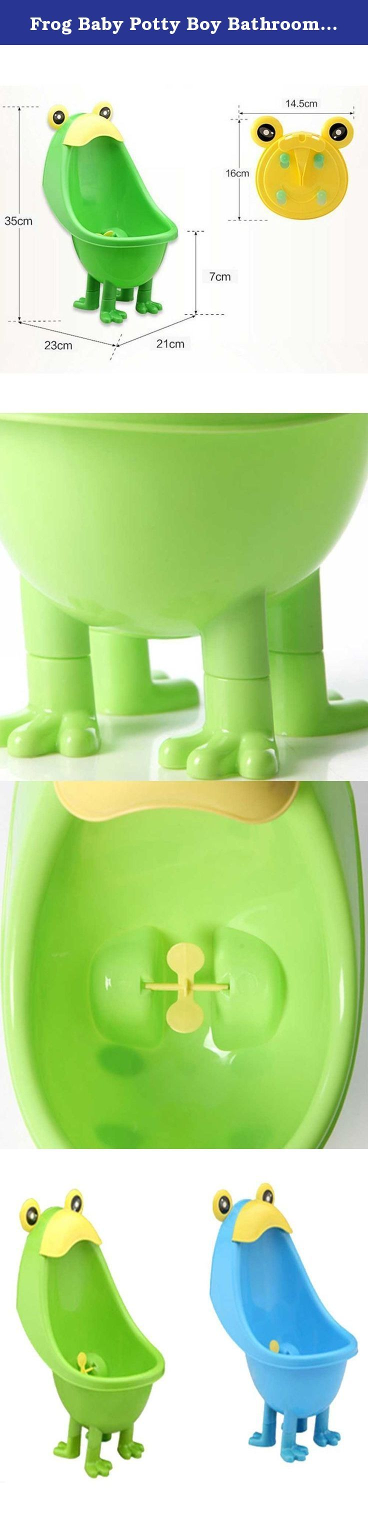 Frog Baby Potty Boy Bathroom Pee Trainer Standing Urinal Kid Wall-Mounted Toilet Bathroom Potty Children Early Education Trainning (Green). Description Environmentally friendly material, nontoxic and no peculiar smell. Urine groove separation design and light surface makes the item easy to clean. The cute frog training urinal is designed for the little boy who wants to grow up. The suction cups allow you to adjust the position of item according to baby's height. The 1100ml capacity is…
