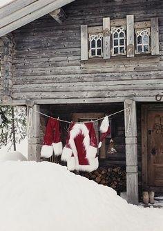 Rustic Santa home