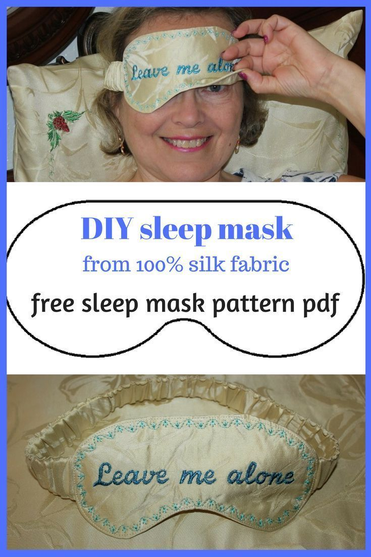 This is a tutorial on how to make a sleep mask easily. DIY sleep mask, sleep mas…