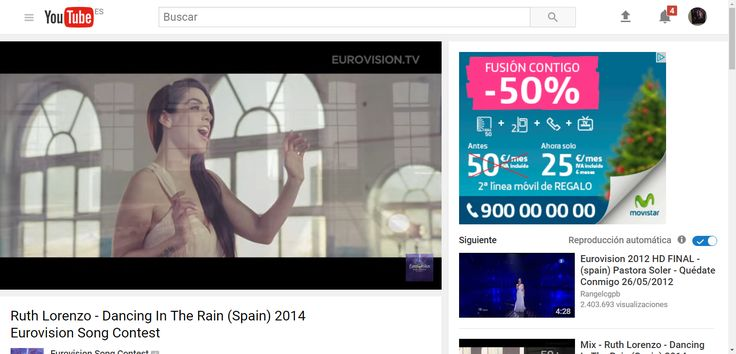 Ruth Lorenzo - Dancing In The Rain (Spain) 2014 Eurovision Song Contest - YouTube