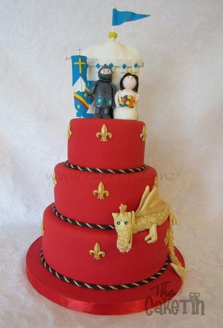 Medieval Wedding Cake Just The Red And Gold No