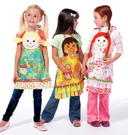 McCalls M6662 Girls  personalized apron So Cute by marcellassewing, $5.99. This is too cute!