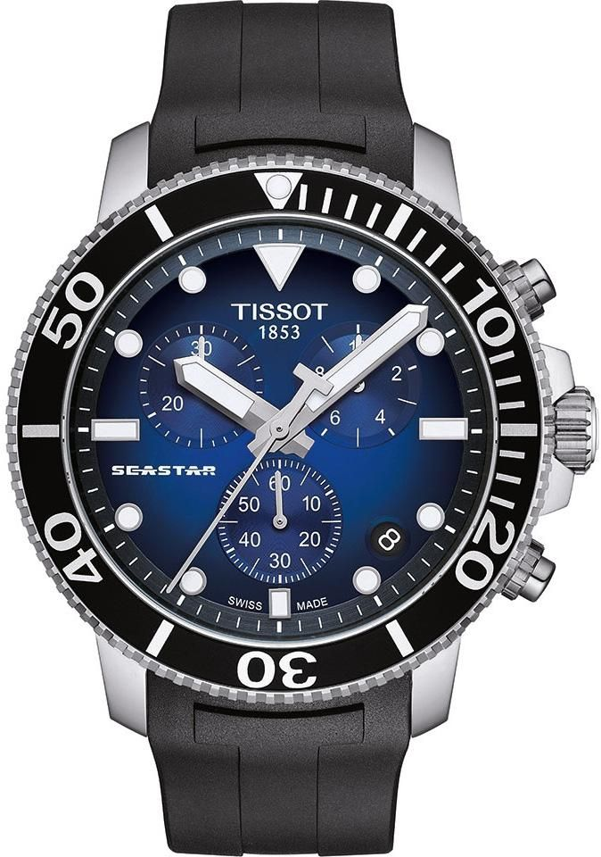 a173f177bb2 Tissot Watch Seastar 1000 Quartz Chronograph  add-content   bezel-unidirectional  blackfriday2018  bracelet-strap-rubber  brand-tissot   case-depth-12-7mm ...