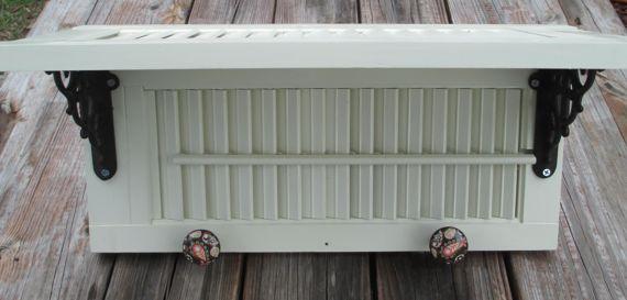 Wall shelf made from vintage window shutter. $55.00, via Etsy.
