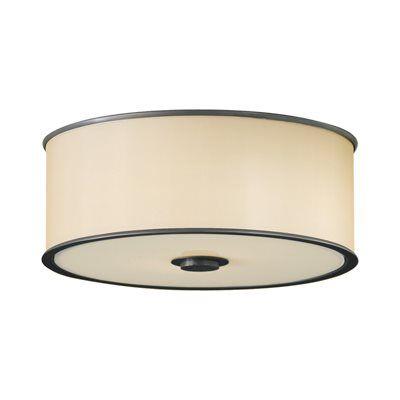 Feiss FM291DBZ 2 Light Casual Luxury Flush Mount Ceiling Light, Dark Bronze