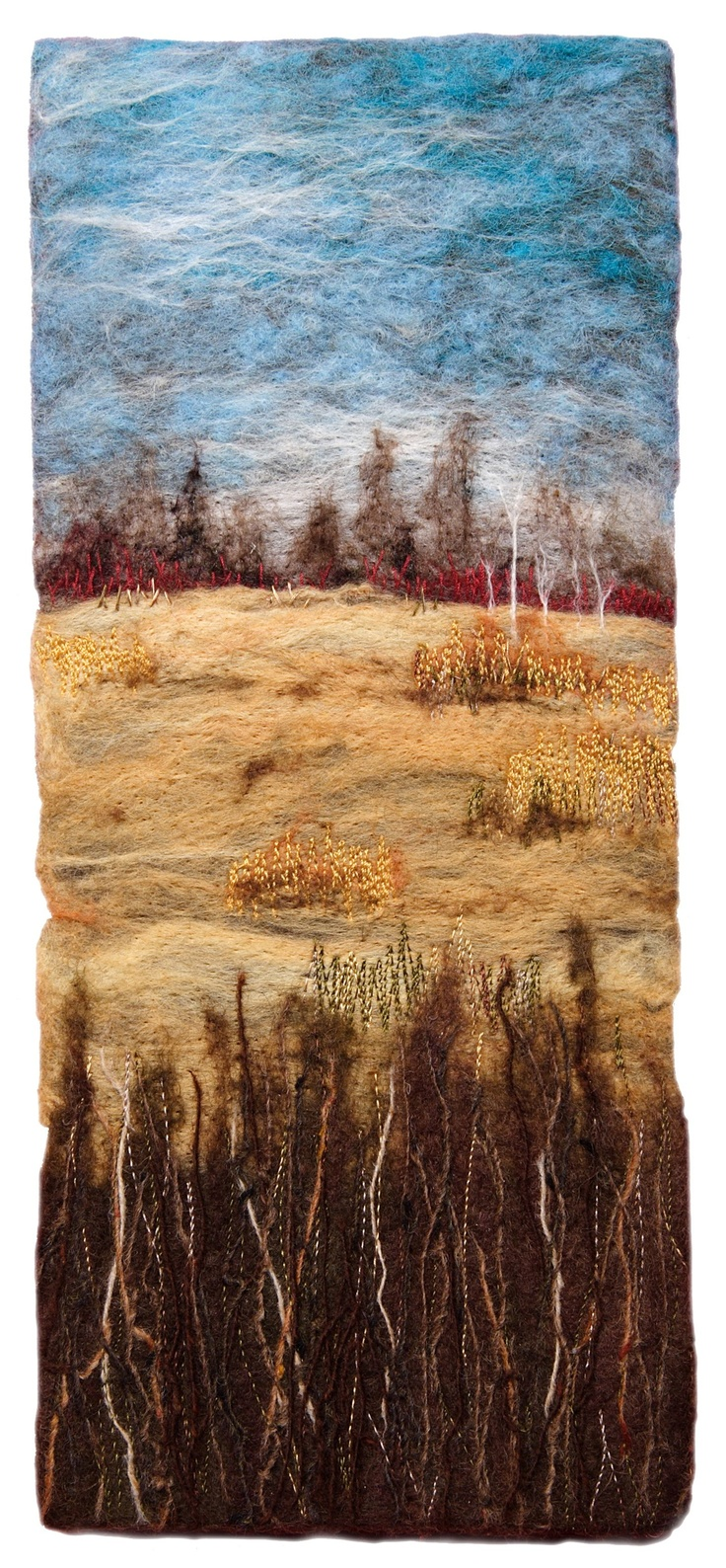 'Jemseg Dogwood' by Alison Murphy. Wool and thread.