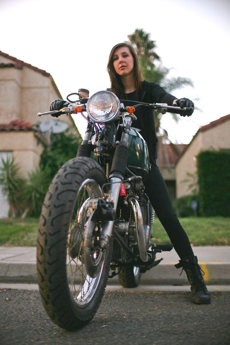 Jessica Van Dusen's 1968 Honda CB350 on themotolady.com #motolady #motorcycles