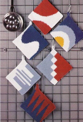 modern potholder! They may be potholders, but, would be great quilt blocks.