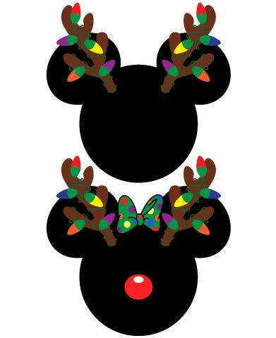 Mickey And Minnie Mouse Christmas Antlers Christmas