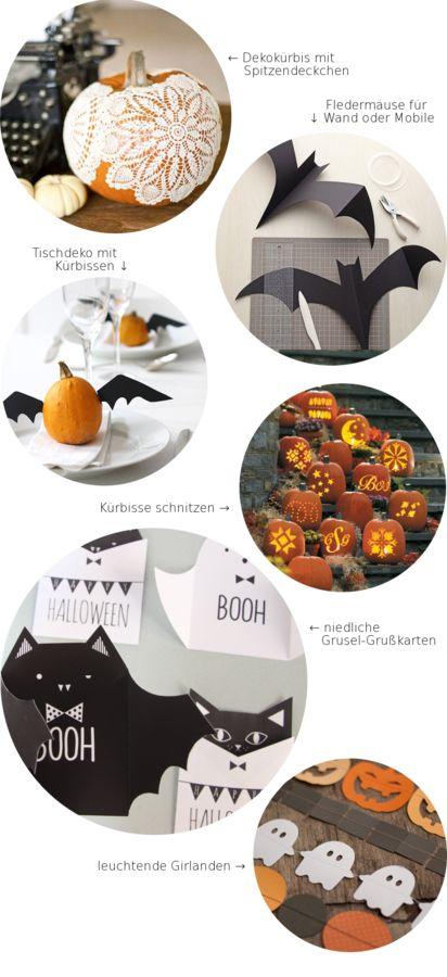 Sechs Bilder – sechs Ideen. Heute: DIY-Ideen für ein gruselig-schönes Halloween!