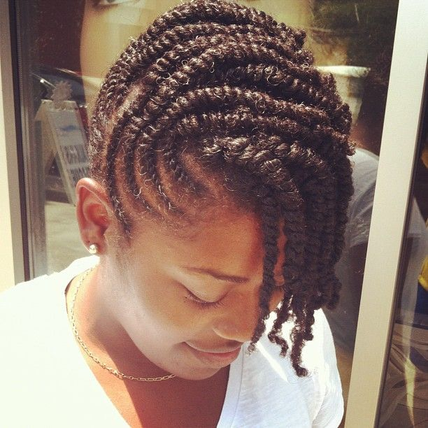 flat twist updo | Flat twist updo by @Diane Z Carrington | Natural twist/braidstyles