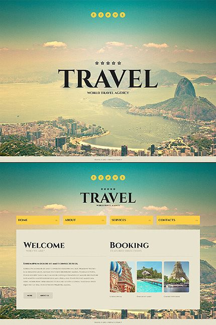 Website Template #travel #webdesig