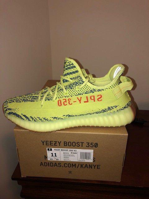 2b6229611 Adidas yeezy boost 350 v2 semi frozen yellow yebra size 11  fashion   clothing  shoes  accessories  mensshoes  athleticshoes (ebay lin…