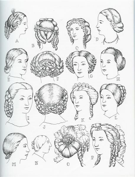 1850s women's hairstyles | 1860 hair styles | Antique clothing 1860 | Pinterest