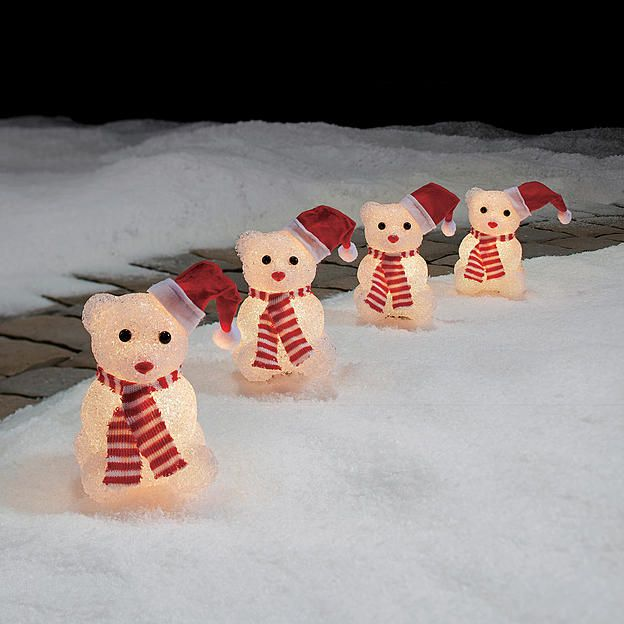 Trim a home lighted bear pathway decorations 6 of 4 at kmart 10 29 15 - Trim a home outdoor christmas decorations ...