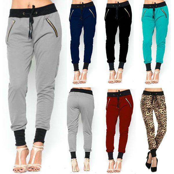 Beautiful Women39S Elasticated Ankle Drawstring Elastic Waist Baggy Denim Pants