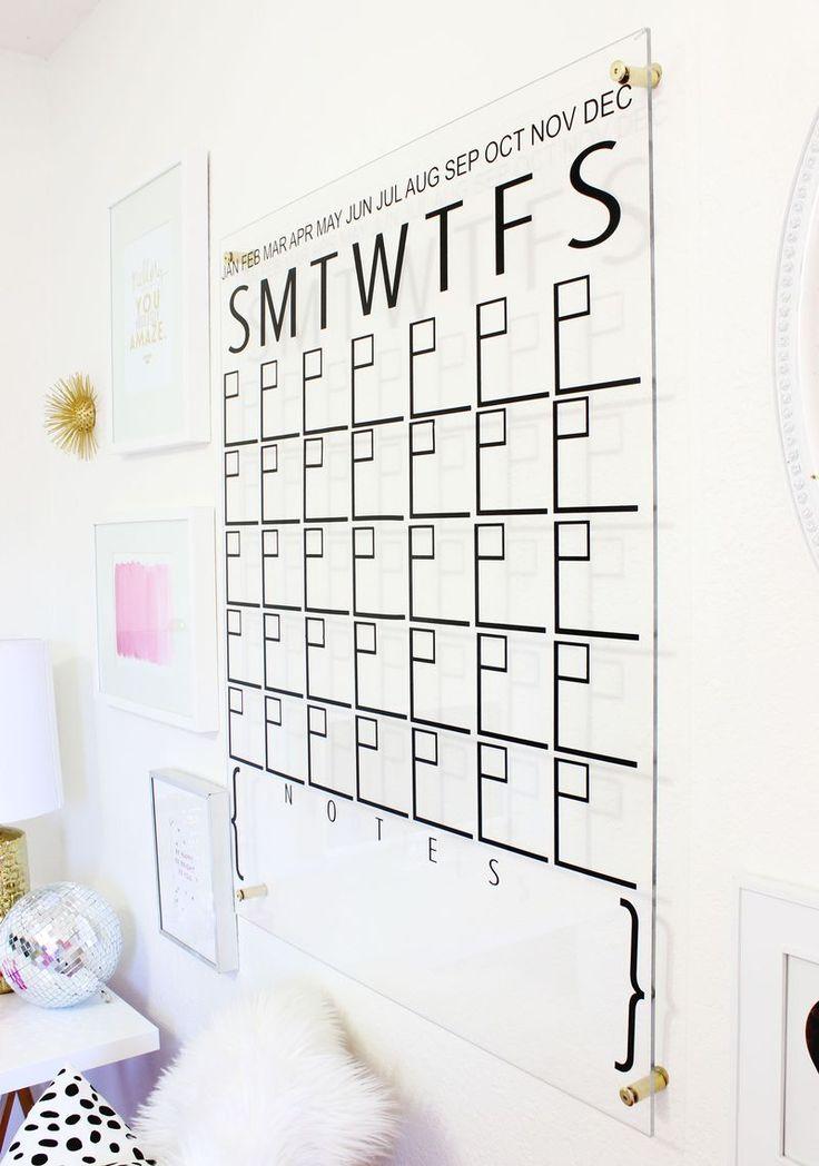 Love this DIY Acrylic Calendar (Click for tutorial) CALENDARIO DE ACRILICO