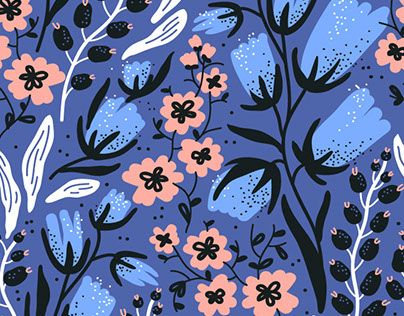 """Check out new work on my @Behance portfolio: """"""""Birds & Blooms"""" - vector patterns collection."""" http://be.net/gallery/56976597/Birds-Blooms-vector-patterns-collection"""