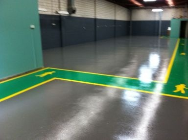 Walkway Demarkation Industrial Floor Marking Ideas