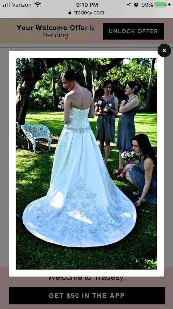Oleg Cassini Wedding Dress Size 16 Packaged In Bridal Keepsafe