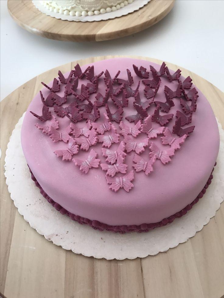 Schmetterlinge Torte