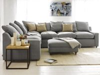 Cloud corner sofa in our Magnesium washed cotton linen