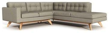 True Modern | Luna Sectional Sofa with Bumper - Modern - Sectional Sofas - YLiving.com