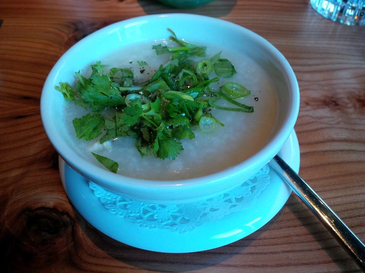 Cháo Gà (rice soup with chicken and young ginger stripes @ Restaurant Cochinchina