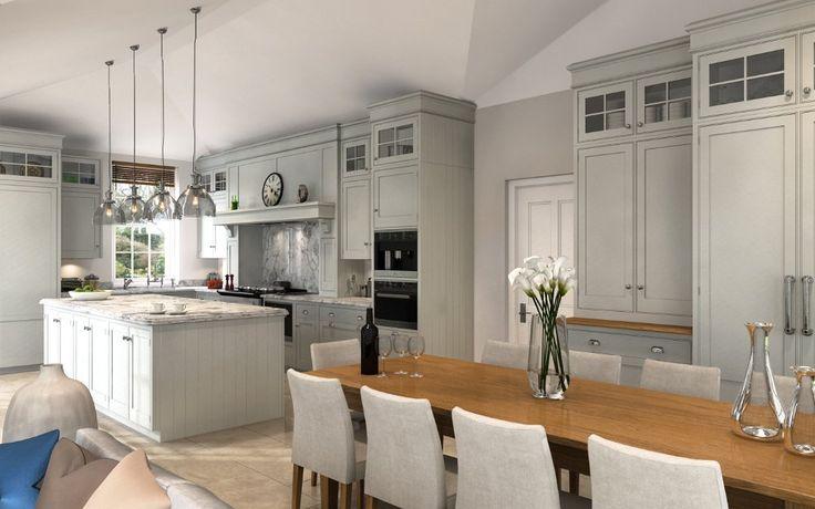 New-England - CGI kitchen for Mark Wilkinson Furniture