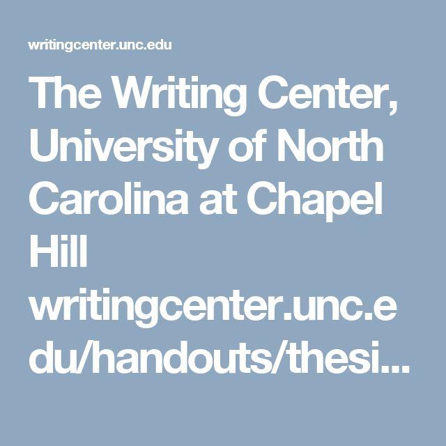 Unc chapel hill writing center handouts