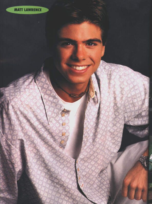 I had the biggest crush on him as a kid (and still do ) | Matthew Lawrence