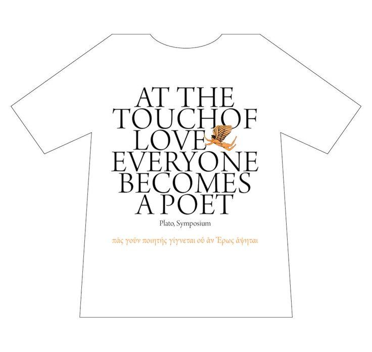 Greek culture T-shirt, Plato, poet, love, T-logos, Ancient Greece, T-shirts, mediterraneo editions, www.mediterraneo.gr