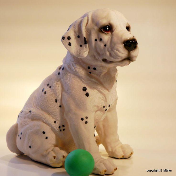gartenfigur dalmatiner welpe gartenfigur tierfigur hund. Black Bedroom Furniture Sets. Home Design Ideas