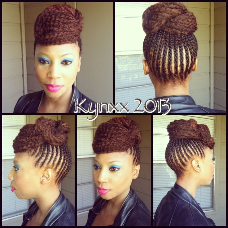 Crochet Braids With Marley Hair Updo Marley Hair Updo