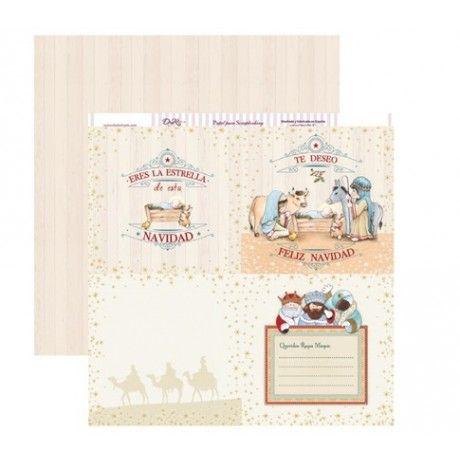 Papel scrapbook para con estampados navideños para la carta a los reyes magos, felicitaciones, tarjetas o álbumes de navidad #scrap #conideade #manualidades