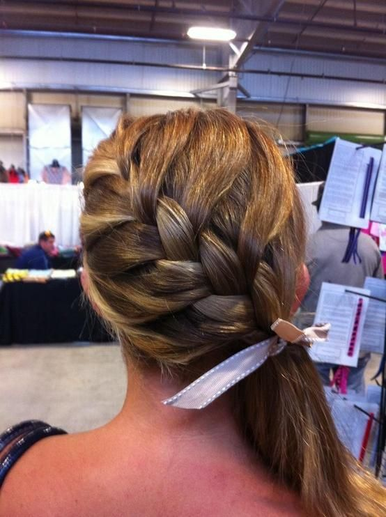 braided side ponytail hairstyles - Google Search