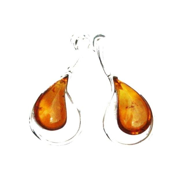 Designer Cognac Amber Teardrop Earrings with elegant large amber pieces set in sterling silver. #teardrops #teardropearrings #teardropjewellery #teardropamber #teardropsilver #elegance #elegantjewellery