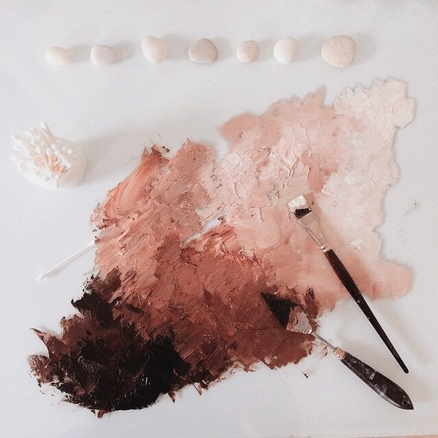 Deep red, magnolia and blush color palette. Autumn…