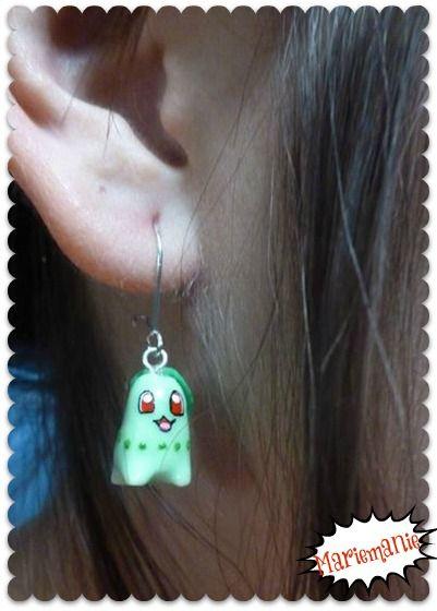 Chikorita earrings