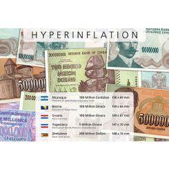 Υπερπληθωρισμός - 5 Χαρτονομίσματα από όλον τον κόσμο!!Η Μοναδική Συλλογή Χαρτονομισμάτων από διάφορες χώρες του κόσμου αφιερωμένη σε πληθωρικά χαρτονομίσματα από πέντε χώρες του κόσμου. Περιλαμβάνει τα ακόλουθα 5 χαρτονομίσματα: 5 εκατομμύρια Δινάρια, Ντόρντε Πέτροβιτς, Γιουγκοσλαβία 100 εκατομμύρια Δινάρια, Πετάρ Κότσιτς, Βοσνία & Ερζεγοβίνη 100 εκατομμύρια Δινάρια, Οχυρό Κνιν, Κροατία 200 εκατομμύρια Δολάρια, Κτίριο της Βουλής, Ζιμπάμπουε 10 εκατομμύρια Κόρντομπας, Χοσέ Ντολόρες Εστράδα…