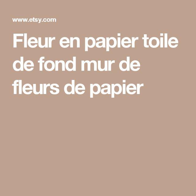 Fleur en papier toile de fond  mur de fleurs de papier