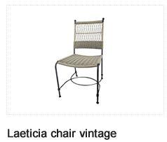 Laeticia Vintage Chair. Patio Furniture. Outdoor Furniture, Aluminum & Polycane.