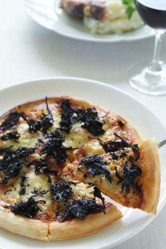 黒ばらのりとしらすのピザ(レシピ)」「ウニと蟹の豆乳冷やし茶わん ...