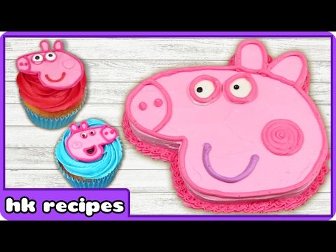Peppa Pig Birthday Cake and Cupcake Decorating Tips | Easy Peppa Pig Ice Cream by HooplaKidz Recipes