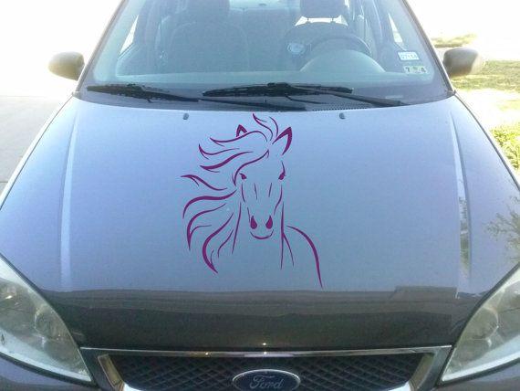 Vinyl Decal Horse Head Animal Car Hood Sticker L By BestDecals - Custom vinyl decals for car hoodsowl full color graphics adhesive vinyl sticker fit any car hood